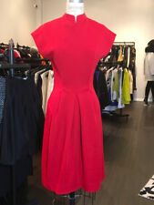 Geoffrey Beene Size 8 Red Wool Knit Dress Vintage Fit & Flare