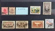 Lot 8 timbres Liban neuf* et ob. Dont YT FR-LB 69 neuf*. 1924 etc