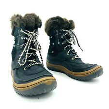 Merrell Black Brown Winter Snow Boots Womens Size 8.5