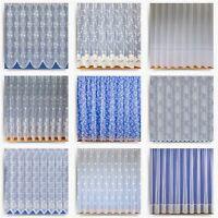 White Net Curtain Pre Cut Ready Made Net Curtains Sheer Lace Curtain Panels
