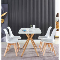 5 Piece Dining Table Set Dining Table And 4 Dining chairs For Dinner Kitchen NEW