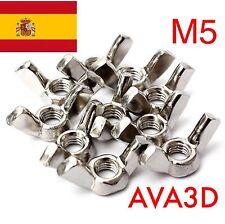 6 Unid Tuercas Mariposa M5 Inox Reprap 3D Prusa Mendel Rostock Métrica 5 Steel