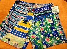 Jams World  FAB Hawaiian beachy mashup JV NEW NWT womens shorts beach BLUE L