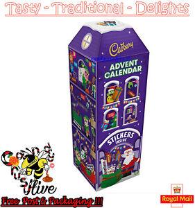 Cadbury 3D Chocolate Advent Calendar Christmas Xmas Santa Countdown Kids 312g