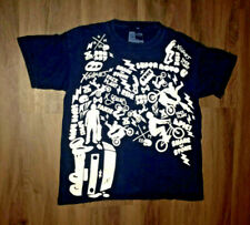 X Games Apparel Navy Blue And White Sports Pattern Shirt Size XL