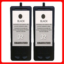 2 Black Non-OEM Replace For Lexmark 32 For P4330 P4350 P6200 Ink Cartridges