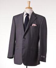 NWT $2195 CANALI 1934 Gray Stripe Year-Round Wool Suit 48 R (Eu 58) Modern-Fit