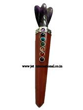 Jet Red Aventurine Healing Wand Stick Chakra Balancing Energy Amethyst Angel A++