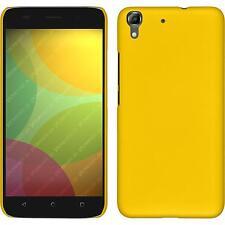 Custodia Rigida Huawei Honor 4A - gommata giallo + pellicola protettiva