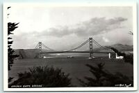 VTG Postcard Real Photo RPPC California CA Golden Gate Bridge Piggott Boat B1
