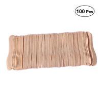 100 Stück hölzerne Eislöffel Holz Schnupperlöffel Eis am Stiel Paddel Löffel