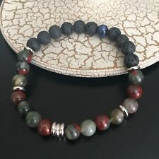 Aromatherapy Essential Oil Diffuser Bracelet Lava Rock Stone Jasper Beads 8mm