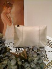 Authentic BVLGARI Designer Ivory Make-up Bag / Cosmetic Case ~ Limited Edition