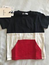 Maglia Maglietta T-shirt Bimbo Moncler Baby 6/9 Mesi Originale