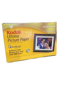 Kodak Ultima Picture Paper for Inkjet Prints 4x6, 20 Sheets Unopened A3