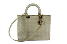 Christian Dior Lady Dior 2WAY Shoulder Bag Canage white leather Women's handbag