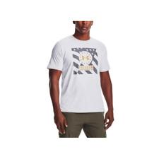 Under Armour Men's Freedom Logo Crew Neck Graphic T-Shirt (White, 2XL)