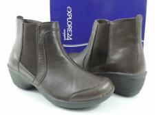 Easy Spirit Explorer 24 Brenley Ankle Boots Booties Leather Dark Brown Size 8