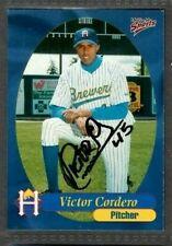 1999 Multi-Ad #29 Victor Cordero Helena Brewers Baseball Signed Autograph (B45)