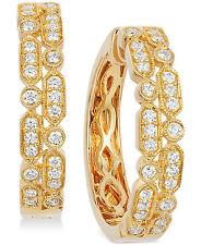 Le Vian Vanilla® Deco Estate™ Gold Diamond (5/8 ct. t.w.) Hoop Earrings in 14k G