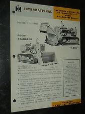 Prospectus IH INTERNATIONAL Tracteur Chenilles TD15 420  MAC CORMICK Brochure TP