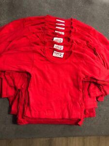 29 Blank Red Kids Tee Shirt Australian 100% Cotton Sizes 0 1 2 3 4 8 T-Shirt