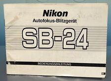 Nikon enfoque automático-Flash sb-24 manual de instrucciones en alemán 78 páginas - 200195