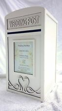 Wedding Card Post Box & Personalised Royal Mail Sign - Large White Postbox