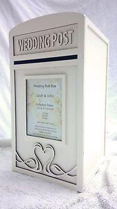 Personalised Lockable Wedding Card Post Box & Royal Mail Sign - Locking Postbox