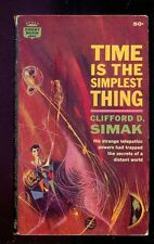 Clifford D. SIMAK Time is the Simplest Thing, Crest Book d547 1962 1st paperback
