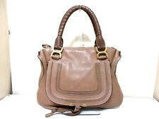 Authentic Chloe Dark Brown Medium Marcie Leather Handbag with Guarantee