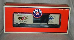 Lionel I Love Maryland Box Car 6-29909 in original box - Excellent condition