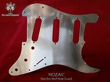 STRAT ETCHED CHROME METAL Steel Pickguard Fender Stratocaster Scratch plate