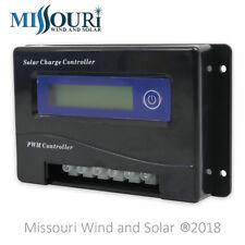 20 Amp 12 / 24 Volt Auto Detect PWM Digital Solar Panel Charge Controller