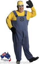 Minion Dave Costume Despcicable Me 2 Mens Adult Fancy Party Dress