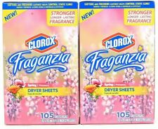 (Pack of 2) Fraganzia Spring Strong Long Last Fragrance 105 Count Dryer Sheets