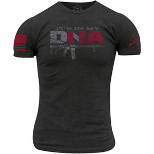 Grunt Style It's In My DNA T-Shirt - Charcoal