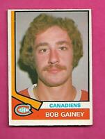 1974-75 OPC # 388 CANADIENS BOB GAINEY ROOKIE GOOD CARD (INV# C7553)