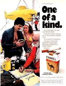 Original Print Ad-1977 CAMEL One of a Kind-Challenges Last Unchartered World SUB