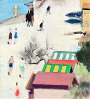 Sandringham Beach A1+ by Clarice Beckett High Quality Canvas Print