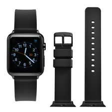 WOCCI 38mm 40mm 42mm 44mm Silicone Rubber Strap Watch Band for Apple Watch