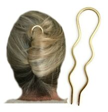 Metal Hair Pin, Wavy Bun Holder for FINE Hair, Wedding Slide, Gift for Women