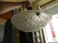 Vasque Lustre Coupe art deco authentique signé DEGUE n° 558  verre epais lustre