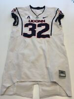 Game Worn Used UConn Huskies Connecticut Football Jersey #32 Size 44