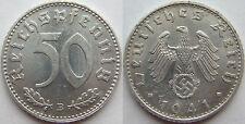 TOP! 50 REICHSPFENNIG 1941 B in VORZÜGLICH / STEMPELGLANZ SELTEN !!!