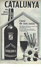 PUBLICITE ADVERTISING 1964  CATALUNYA vin doux apéritif alcool220912