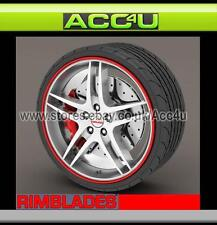 Rimblades RED Car 4x4 Alloy Wheel Rim Edge Lip Ring Protectors Styling Strip Kit