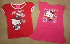 Set of 2 Hello Kitty Toddler Baby Girl's 24 Months 2T 4th July Top & Dress Lot