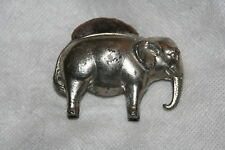 "WOW!~ELEPHANT brown felt PIN CUSHION~novelty, SILVER, MADE IN GERMANY,2.25"" x 1"""