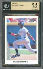 1990 leaf #300 FRANK THOMAS chicago white sox rookie card BGS 9.5